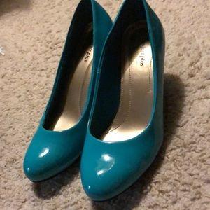 Turquoise comfort plus heels